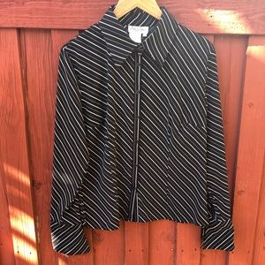 Early 2000's Women's Large striped blouse